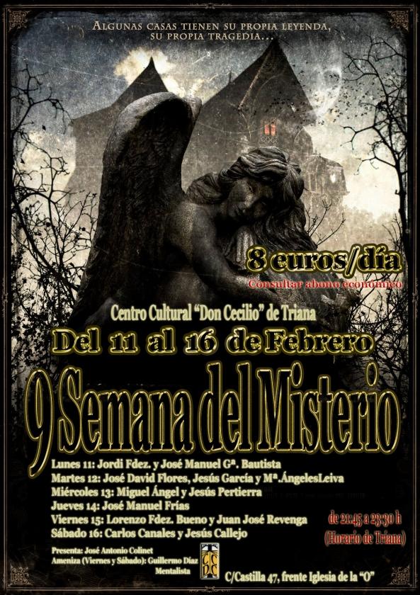 Cartel 9 Semana del Misterio de Sevilla CONFERENCIA y DIA