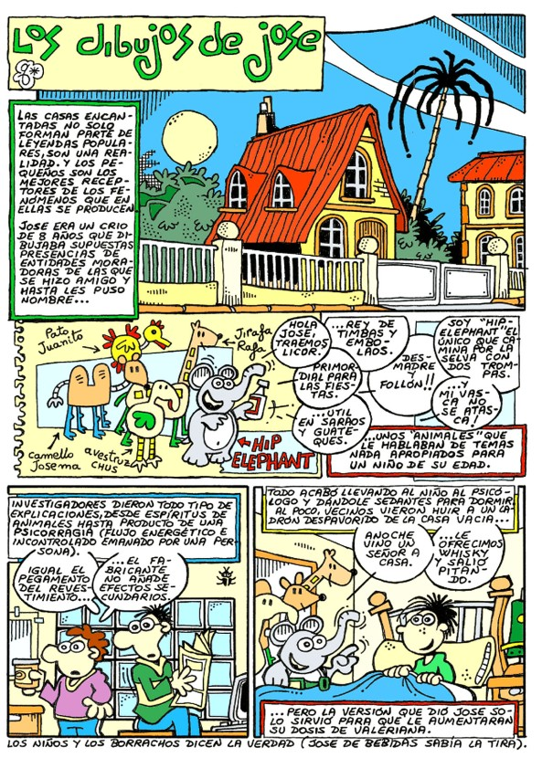 Comic Voces del Misterio 021 - Los dibujos de Jose