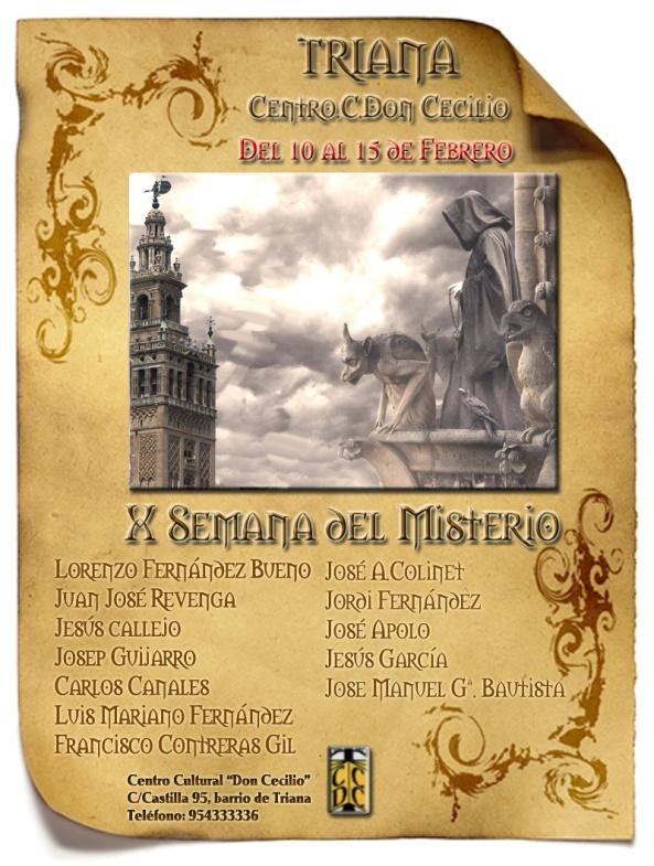 Cartel oficial X Jornadas del Misterio de Sevilla
