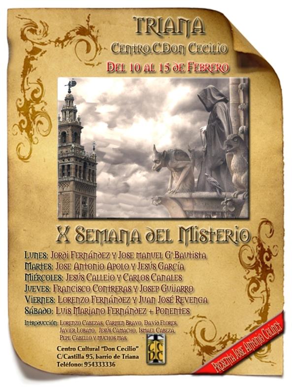 Semana del Misterio de Sevilla - X Jornadas - Centro Cultural Don Cecilio