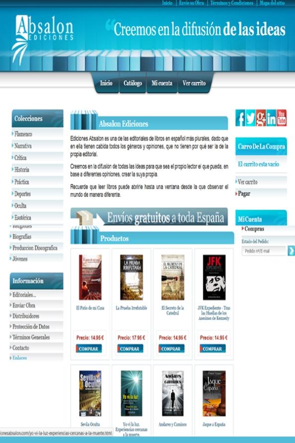 Web Absalon Ediciones