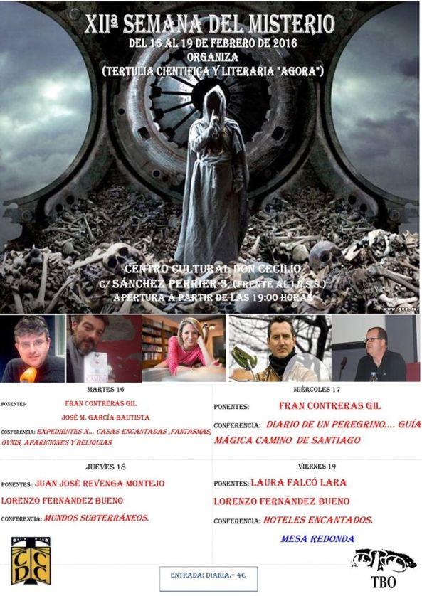 Cartel SEMANA DEL MISTERIO 2016 CCDC