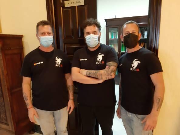 Equipo Activity Ghost (De izquierda a derecha: Luis Lérida, Lolo y Jose Lérida)
