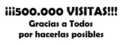 Mónica Damboriano: 500.000 VISITAS!!! MUCHISIMAS GRACIAS